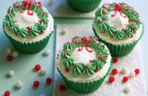 Wreath-Cupcakes