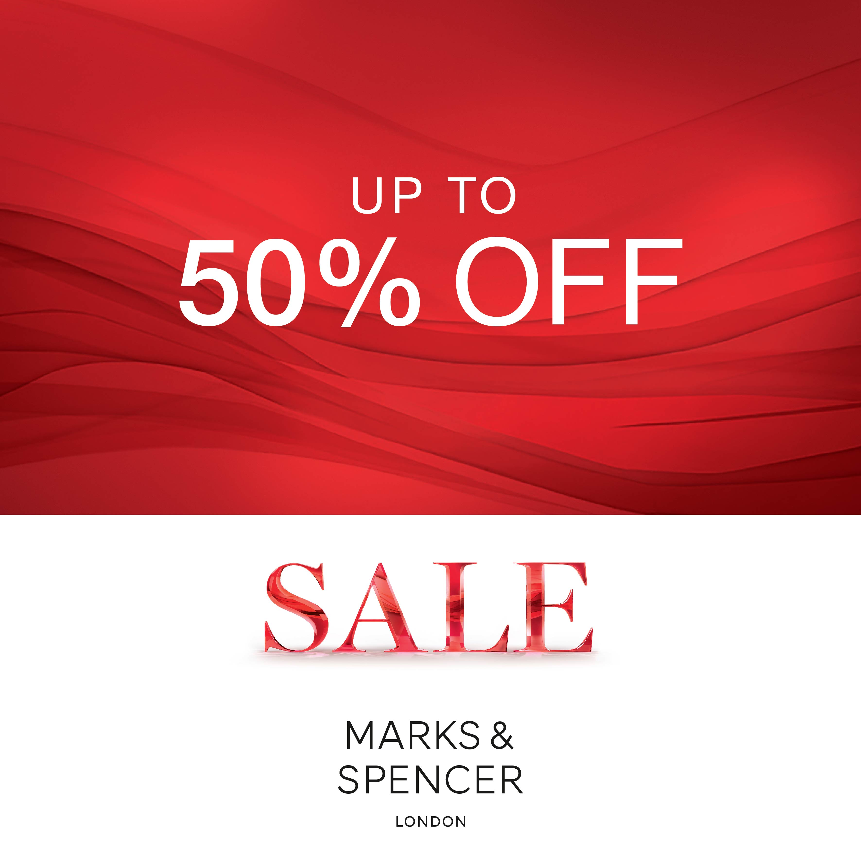 SALE M&S UP TO 50% OFF