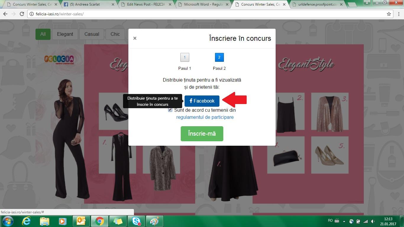 Concurs online aplicatia Winter Sale Felicia - Pas 4