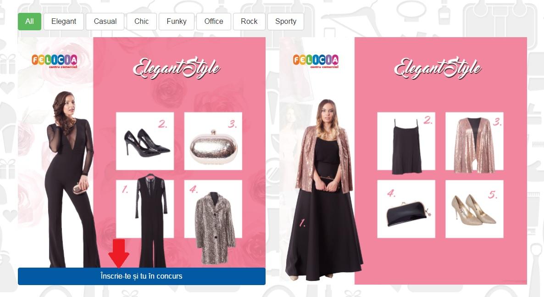 Concurs online aplicatie Winter Sale Felicia - Pas 2