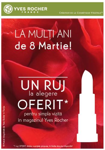 Yves Rocher Oferta speciala 8 Martie 2017