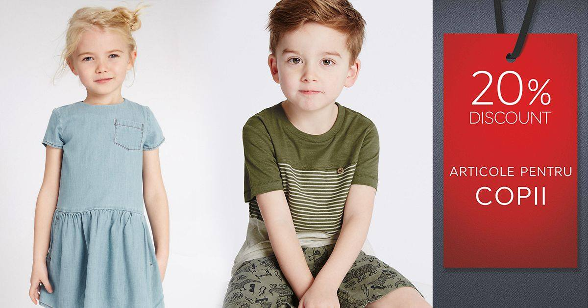 Marks and Spencer promo kids